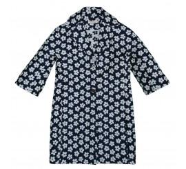 Saco largo azul estampado floral