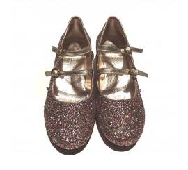 Zapato Dorado Laminado